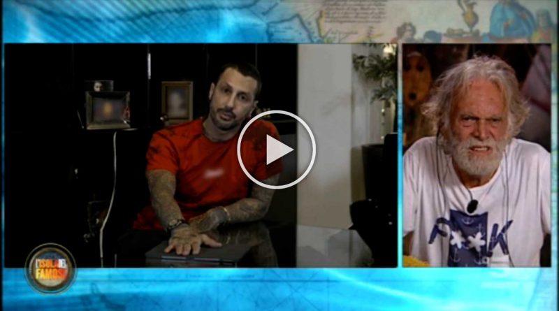 ISOLA DEI FAMOSI: Corona umilia in diretta Riccardo Fogli VIDEO